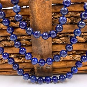 Vintage Lapis Lazuli Beaded Necklace (Rare)
